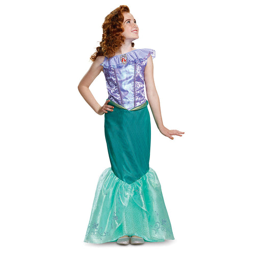 Girls Ariel Deluxe Costume - Little Mermaid