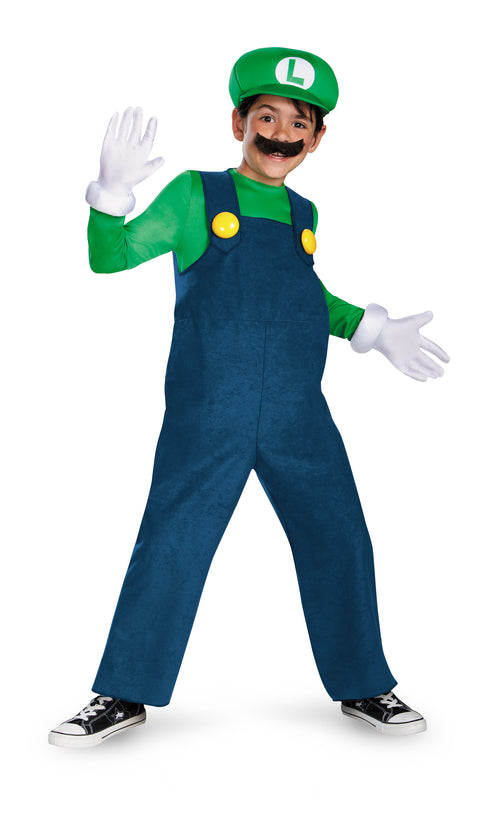 Boys Deluxe Luigi Costume - Super Mario Bros.