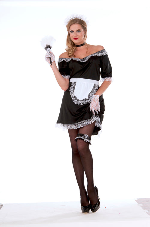 Adult French Maid Costume - Standard Size