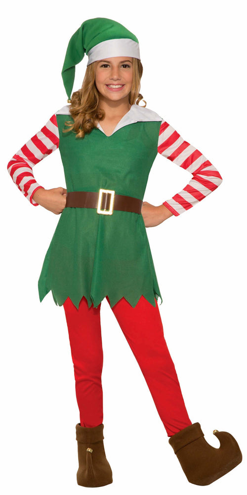 Girls Santa's Helper Elf Costume - Medium