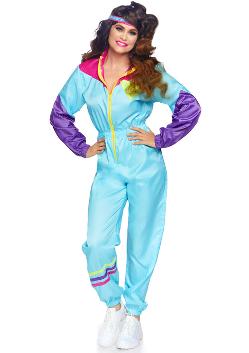 Adult Totally Awesome 80s Ski Suit Costume
