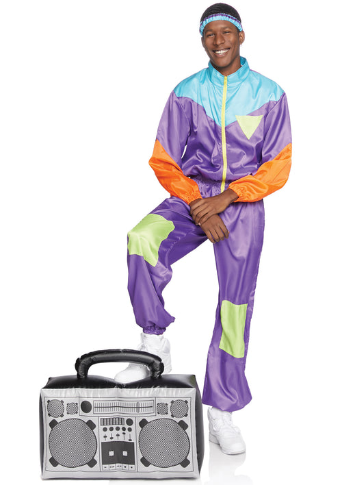 Men's Totally Awesome 80s Ski Suit Costume
