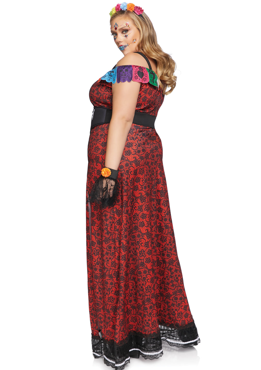 Plus Size Deluxe Day of the Dead Beauty Costume