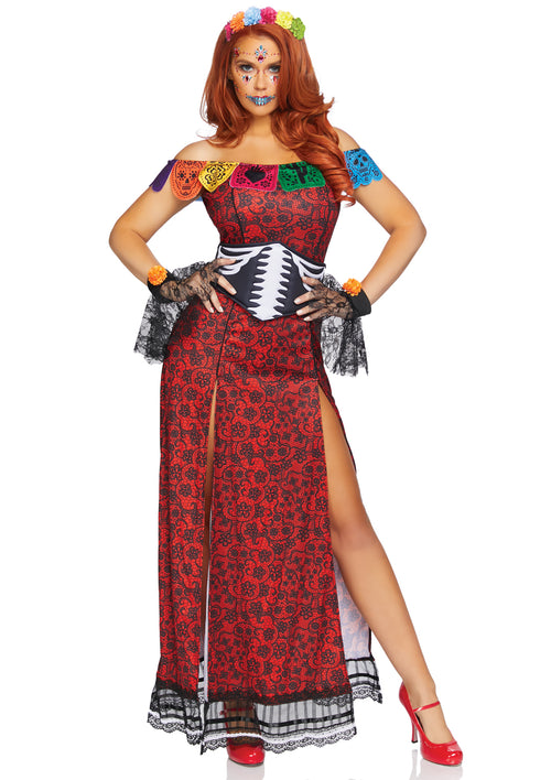 Deluxe Day of the Dead Beauty Costume
