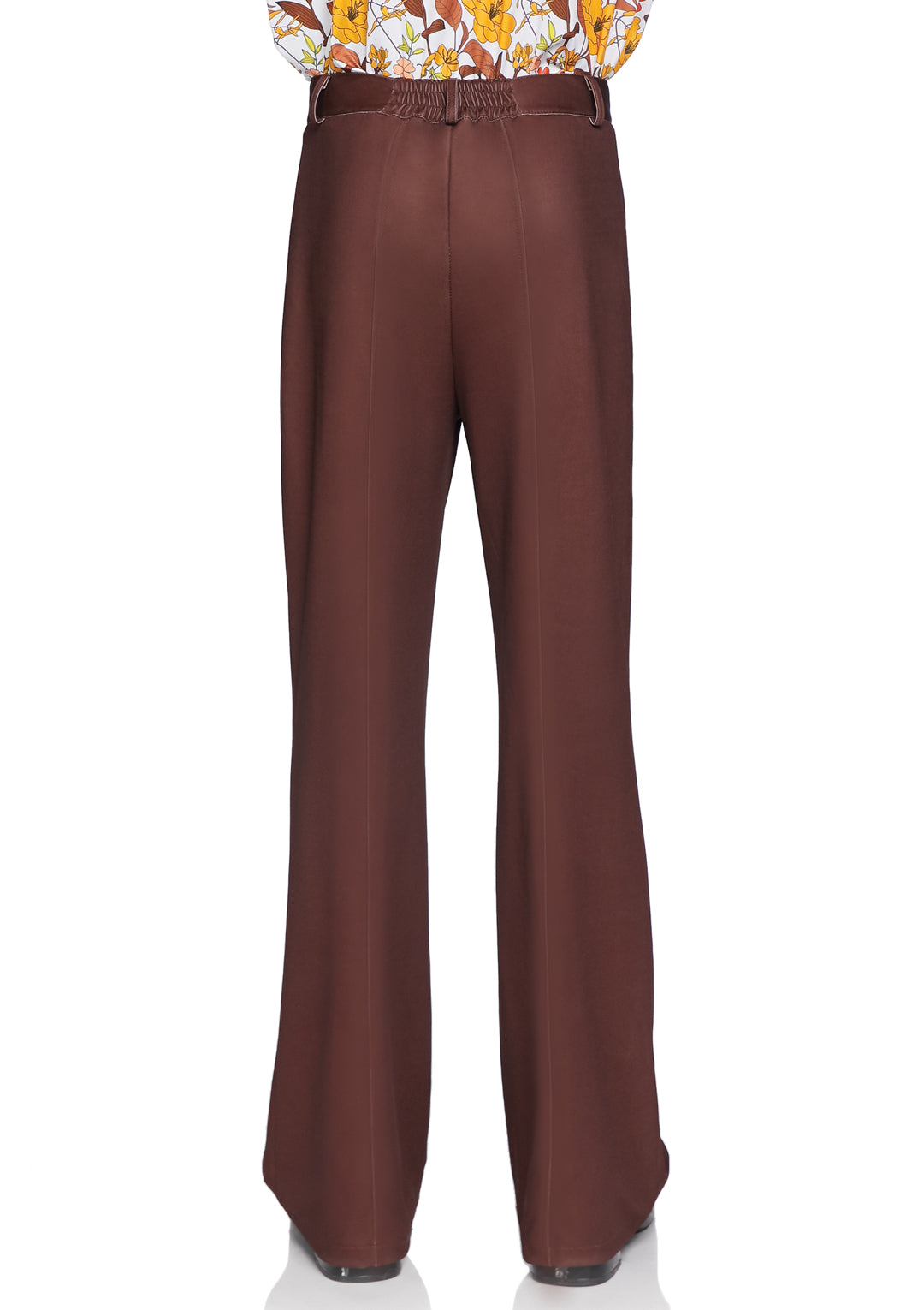 Men's Brown Bell Bottom Pants