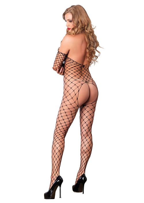 Leg Avenue Fence Net Off The Shoulder Bodystocking