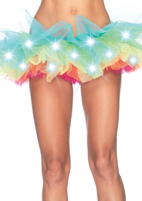 LED Light Up Rainbow Neon Tutu