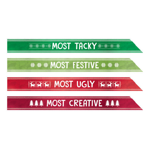 Amscan Ugly Sweater Sashes - AM-3900367
