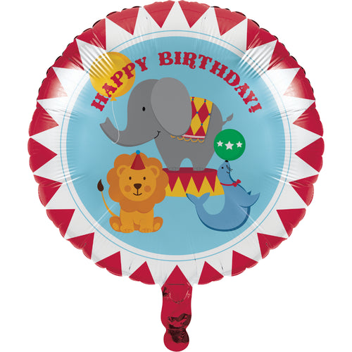 Circus Time Metallic Mylar Balloon 18""