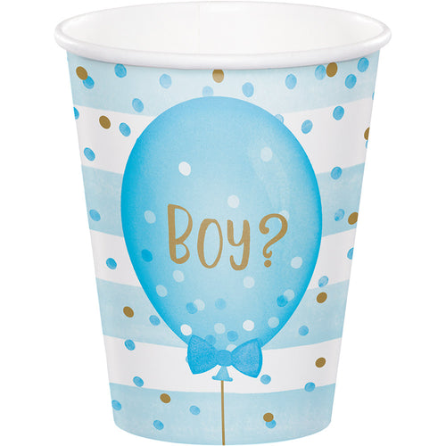 Gender Reveal Balloons Hot/Cold Cups 8ct