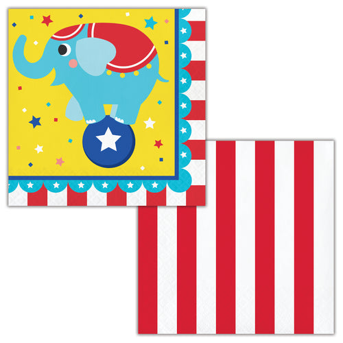 Circus Party Lunch Napkins 16ct
