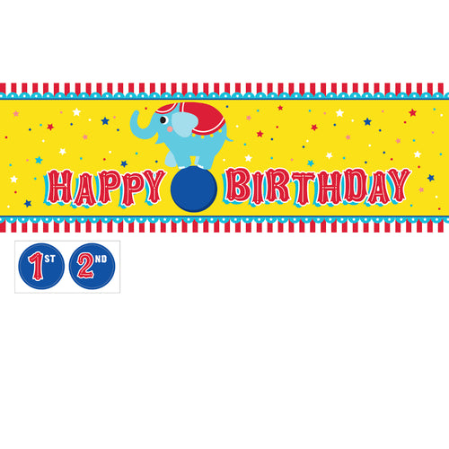 Circus Party Birthday Banner