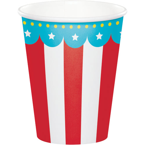 Circus Party 9oz Cups 8ct