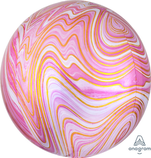 "Pink and Gold 16"" Marblez Balloon"