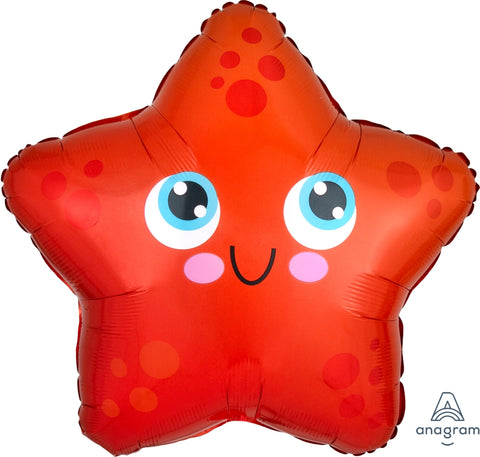 Red/Orange Crab Mylar Balloon 22""