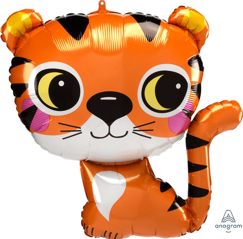 Tiger Jumbo Balloon 25""