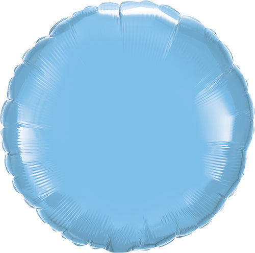 Pale Blue Round Mylar Balloon