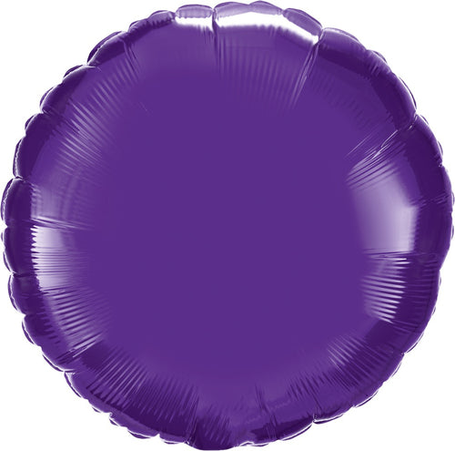 Purple Round Mylar Balloon