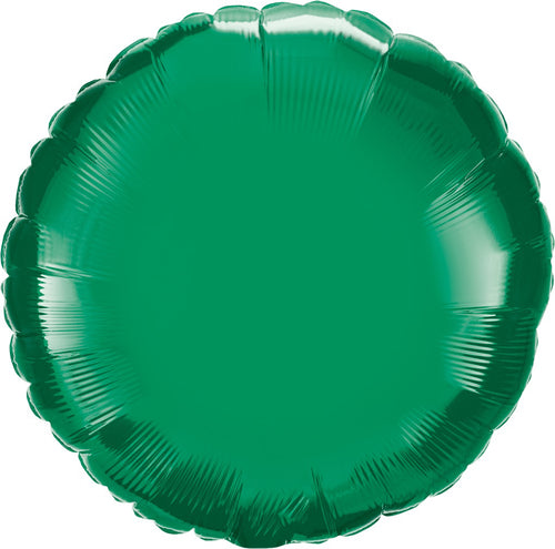 Emerald Green Round Mylar Balloon