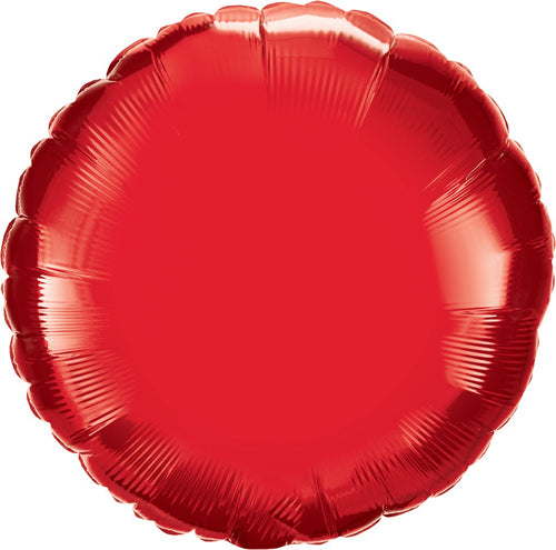 Red Round Balloon 18""