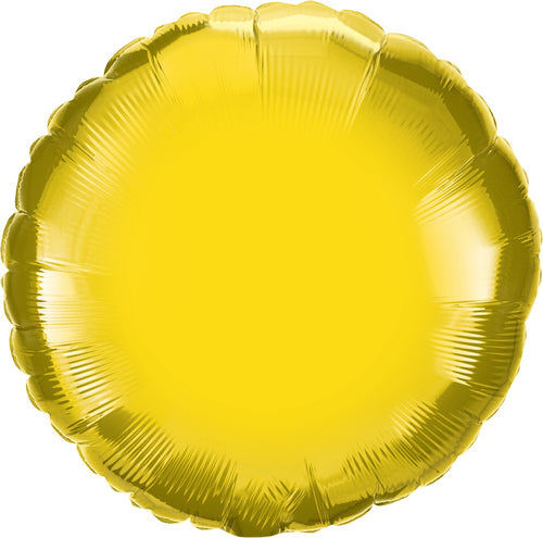 Citrine Yellow Round Mylar Balloon