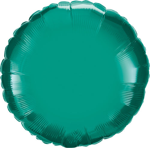 Teal Round Mylar Balloon 18""