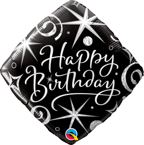 Elegant Birthday Sparkle Mylar Balloon 18""