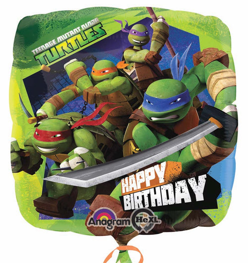 Teenage Mutant Ninja Turtles Birthday Mylar Balloon