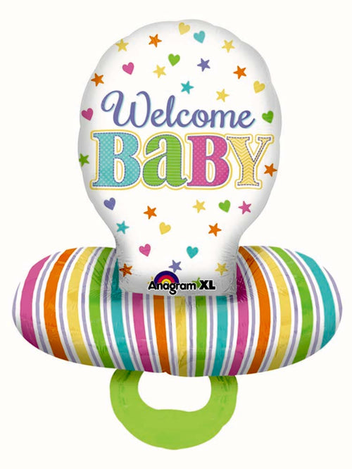 "Baby Brights Pacifier Balloon 59"" - Baby Shower"