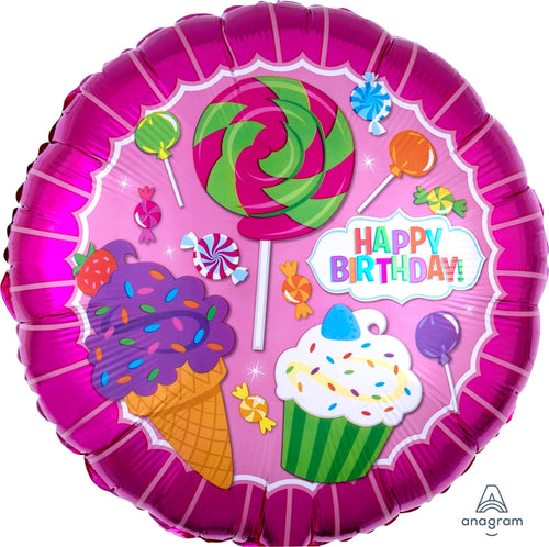 Sweet Shop Birthday Mylar Balloon 18""