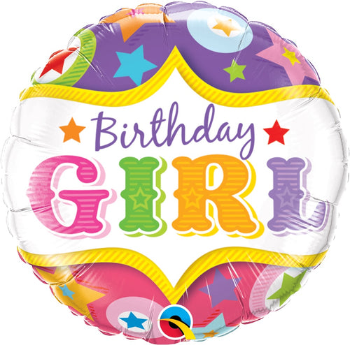 Circus Birthday Girl Mylar Balloon 18""