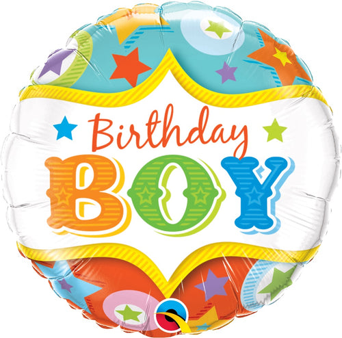 Circus Birthday Boy Mylar Balloon 18""