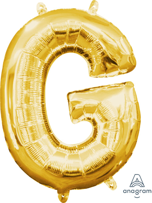 Gold Letter G Air Filled Balloon 16in