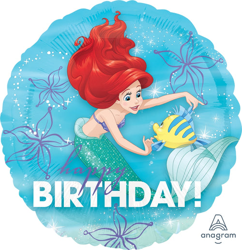 Ariel Dream Big Happy Birthday Mylar Balloon 18""
