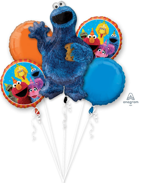 Cookie Monster Balloon Bouquet - Sesame Street
