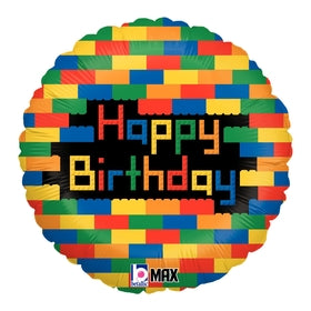 Birthday Blocks Mylar Balloon 18""