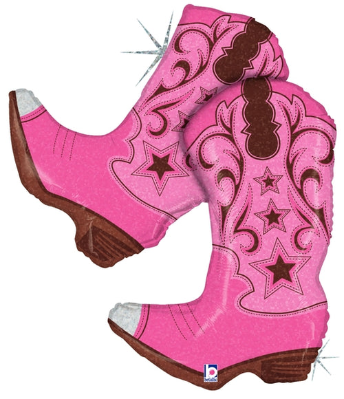 Pink Dancing Boots Balloon 36""
