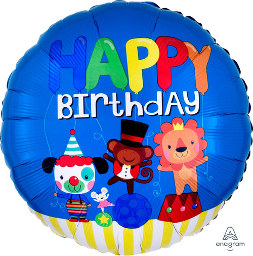 Happy Birthday Circus Fun Mylar Balloon 18""
