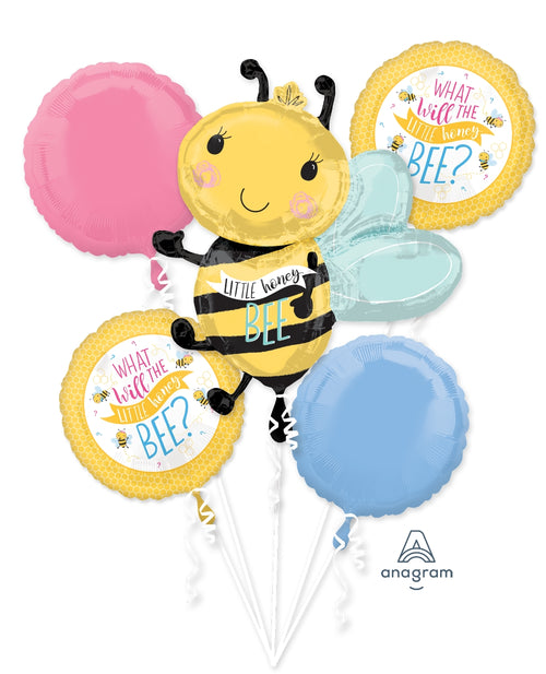 What Will It Bee Gender Reveal Baby Shower Balloon Bouquet