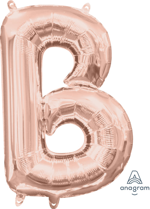 Rose Gold Letter B Air Filled Balloon 16""