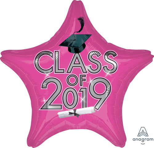 Pink Class of 2019 Graduation Star Balloon