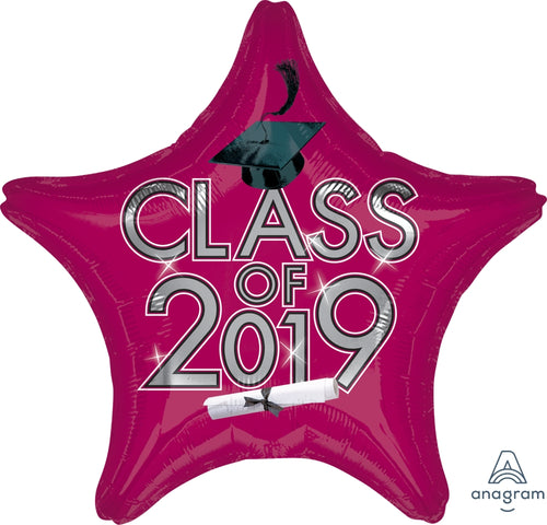 Berry Class of 2019 Graduation Star Balloon