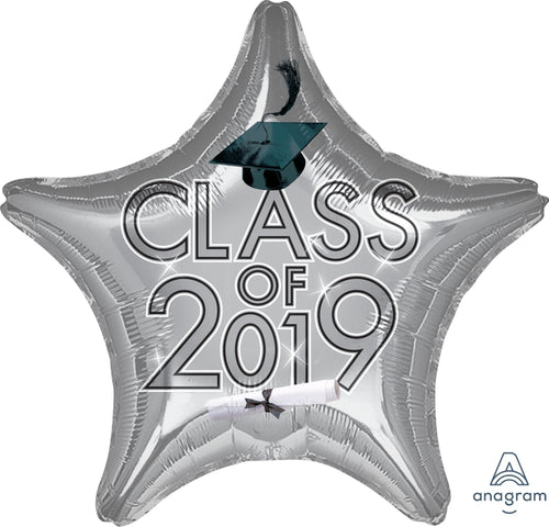 Silver Class of 2019 Star Balloon