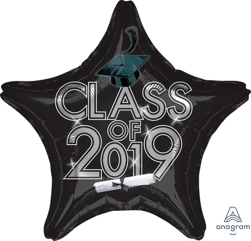 Black Class of 2019 Graduation Star Balloon