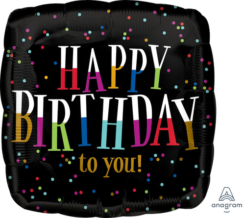 Fun Birthday Type Mylar Balloon 18""