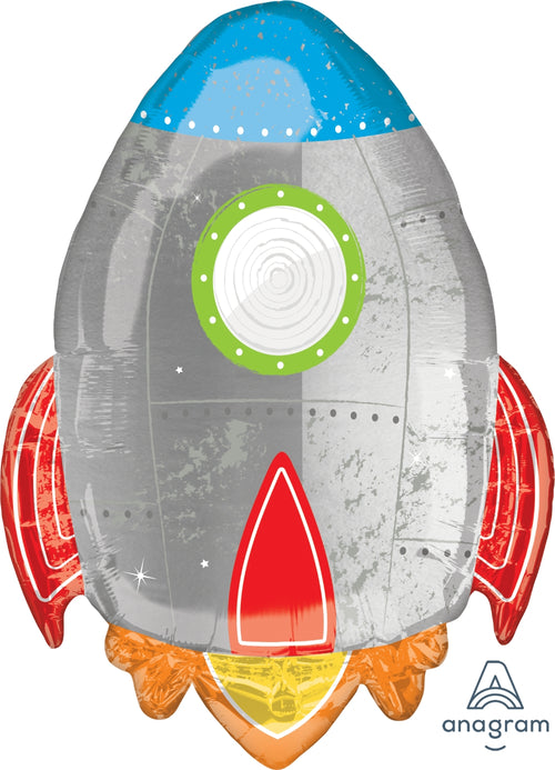 Blast Off Birthday Jumbo Balloon 29""