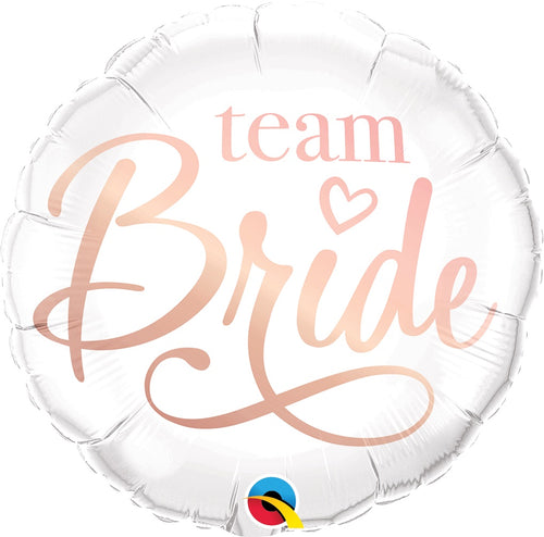 Rose Gold Team Bride Mylar Balloon 18""