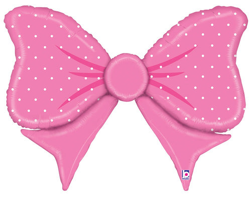 "Giant Pink Bow Balloon 43"" - Baby Shower"