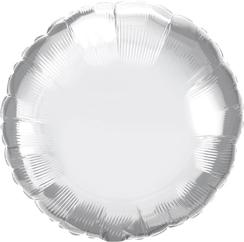 Chrome Silver Round Mylar Balloon 18""