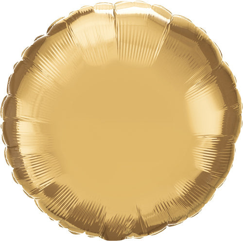 Chrome Gold Round Mylar Balloon 18""